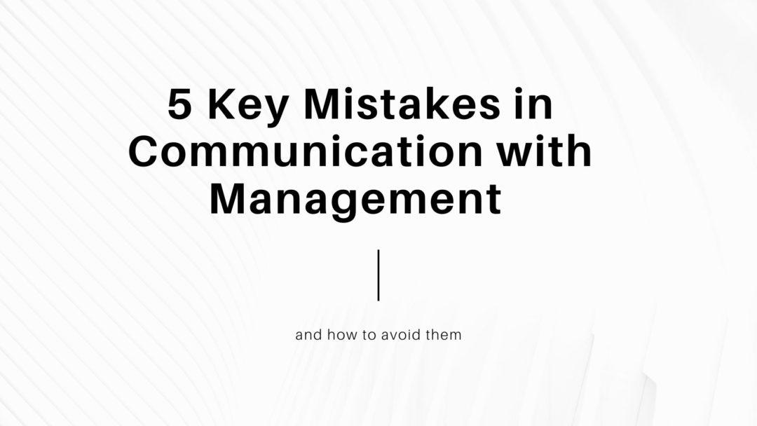5 Key Mistakes
